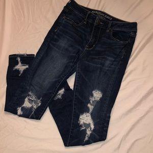 Dark washed denim jeans